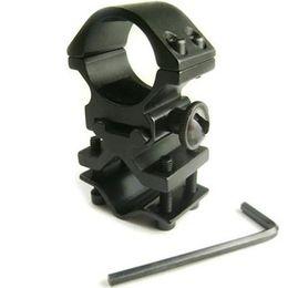 Wholesale Aluminum Alloy Matte Black Action Tactical Flashlight Laser Torch Surefire Barrel quot Mount L0353 SUP5