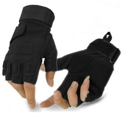 Wholesale-Blackhawk hell storm special forces tactical gloves slip outside training fighting half- finger gloves