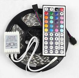 5m 5050 SMD RGB LED Strip Light 12V 300 LEDS Non-Waterproof + 44 Keys Remote Controller Multi Colors Changing Strips Lighting Christmas Lamp