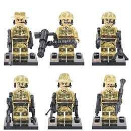 Wholesale Guard Against Terrorism SWAT Team Police Officer Tactical Unit Military Minifigure Weapon DIY Gift Building Blocks Toy