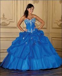 Wholesale vestidos de High Quality Wedding Dress Appliqué Quinceanera Dresses Sweetheart Sleeveless Floor Length Open BackWith Crystal Bea Prom Dress