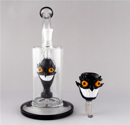 Wholesale 2016New Design Face Style Bongs High Thick Glass Water Pipes High end Glass Recycler Oil Rigs Glass Bong Hookahs Glass Ash Catcher mm