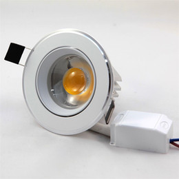 Free Shipping LED Downlight Dimmable 10W 110V 220V Ceiling Down Light COB Lamps LED Recessed Indoor Lighting For Home