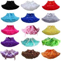 2017 faldas para las muchachas de los niños Venta al por menor Pettiskirt del bebé niños de la princesa del color sólido del tutú faldas de la danza de la falda de la ropa para niños 1 PCS descuento faldas para las muchachas de los niños