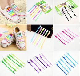Wholesale 300x colors New creative lazy shoe laces colorful silicone shoelaces no tie V tie shoe laces SL006