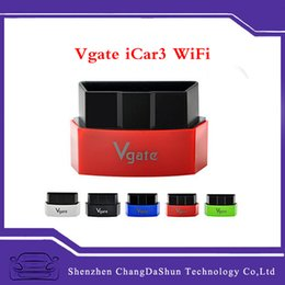 Wholesale 2016 Best Selling Vgate iCar iCar3 WiFi ELM327 OBDII Car Diagnostic Tool for iOS Android with Fast Delivery