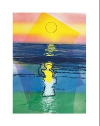 Wholesale Wall decoration hand painted abstract oil piantings Andy Warhol s Sunset c