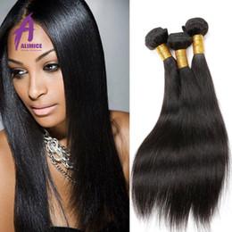 Rosa Hair Products Malaysian Peruvian Virgin Hair Straight 3pcs Malaysian Straight Hair Bundles 100% Unprocessed Virgin Human Hair Weave
