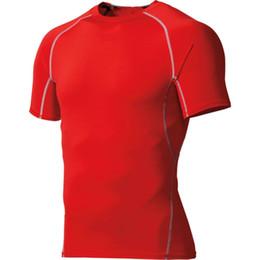 2017 capas base Las camisetas apretadas de la capa de la base de la piel de la camiseta de la compresión de los Al por mayor-Hombres que entrenan el entrenamiento del gimnasio rematan la venta caliente capas base outlet