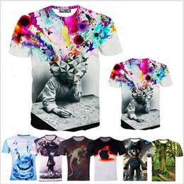 Wholesale-new fashion The Thinker Printing Abstract t-shirt Unisex Women Men Casual 3d t shirt for men women harajuku tee shirt
