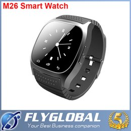 2015 New Bluetooth Smart Watch M26 Rwatch wristwatch Support Dial SMS Reminding Music Player Pedometer Sports Watches For IOS Android hot