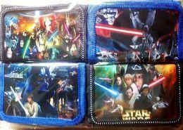 Wholesale 120pcs Star Wars enfants sacs à main sacs enfants porte monnaie porte noir chevalier Darth Vader Stormtrooper portefeuilles enfants sacs nylon portefeuilles