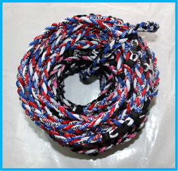 100pcs titanium braided necklace 3 ropes necklace tornado SPORTS football baseball new tornado necklace free DHL