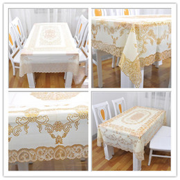 Tablecloth Rectangle Hot Family Beautiful Cut Out and PVC Stamping Tablecloth Vinyl Fashion Home Waterproof and High Temperature Resistant