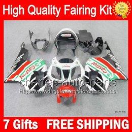 7gifts+Bodywork For HONDA VTR1000 00-07 VTR 1000 Castrol red RTV1000 46LC9 VTR1000R 2000 2001 2002 2003 07 RC51 SP1 SP2 White Fairing Kit