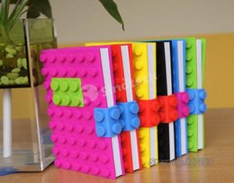Wholesale Notebook Silicone Cover Creative Candy Color Dairy Brick Book Silicone Stars Books Dot D Notepad Recycling Stationery Material UPS Factory