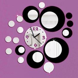 venta caliente d diy del espejo del reloj de pared de diseo moderno para saln