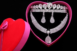2015 Real In Stock Diamond Sliver Mental Necklace Earrings Crown Acrylic Elegant Evening Prom Party Wedding Accessories Jewelry Sets