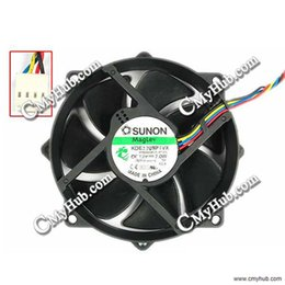 Cooling Fan For SUNON KDE1209PTVX DC 12V 7W Wire Length: 115mm 4-Wire 4-Pin Connector Server Round Fan 13.MS.B3035.AF.GN Size(mm) : 95 x 95