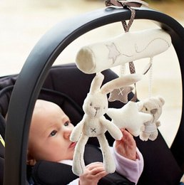 Wholesale New Arrive Cot hanging toy baby rattle toy soft plush rabbit musical mobile products
