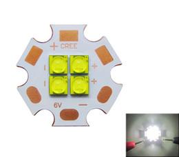 Cree XT-E 4 Led Chips Warm White   White   Royal Blue Led Light 6V   12V 110 Degree 50pcs lot