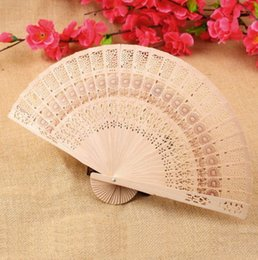 Wholesale 500pcs Retro Ladies Hollow Folding Wooden Fan Wedding Birthdays Partys Gift Brand New Good Quality Hot Sales