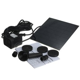 Wholesale High quality Monocrystalline Silicon mini solar Water Pump Power Panel Kit Fountain Pool Garden Pond Submersible Watering