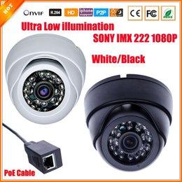 2017 dôme intérieur caméras ip FULL HD 1080P Appareil-photo d'IP de PoE Mini CCTV Caméra Dôme Intérieure 2.0 Megapixel PoE Caméra IP IR Cut Filter Câble PoE ONVIF 1080P Lentille dôme intérieur caméras ip autorisation