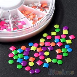 6 Colors Stud Nail Art 3D DIY Design Decoration Stickers Metallic Studs 1NK7