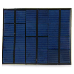Silicio w en venta-Venta al por mayor 10pcs / lot 3.5W 6V epoxi policristalino silicio mini células solares con salida USB mini panel solar para DIY / Test- NEGRO