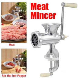 Wholesale FS Hot Hand Operated Kitchen Clamp Grinder Meat Mincer Maker Beef Sausage order lt no track