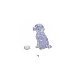 DIY 3D Jigsaw Crystal Puzzle Cute Dog Plastic Home Decoration Birthday Gift