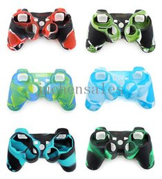 Camouflage Silicone Case Soft Protective Shell Case Skin For Sony Playstation 3 PS3 Controller Game Accessory