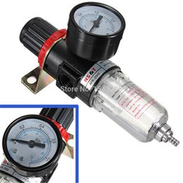 Wholesale Black Pneumatic Air Source Treatment Filter Regulator w Pressure Gauge AFR Compressors small order no tracking