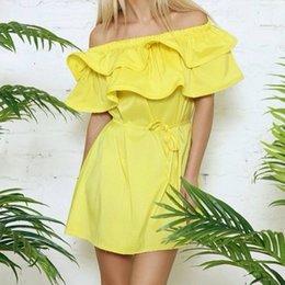 Wholesale-Summer Style Butterfly Shoulder Women Dress Fashion 2015 Sleeve Slash Neck Dresses Free Shipping