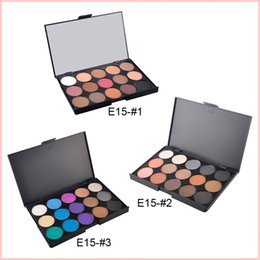 15 Color Nude Smoky Pearl Eyeshadow Shimmer Eyeshadow Makeup Palette Set Professional Eye Shadow Foundation Makeup Tool 3 Palettes 0605101