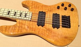 Wholesale flame maple string electric bass guitar
