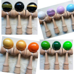 Via DHL EMS, Jumbo Kendama Toy Japanese Traditional Wood Game Kids Toy PU Paint top quality games toys gifts 25x8CM