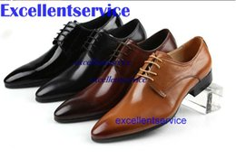 Wholesale mens wedding shoes pointed causal business shoes mens genuine leather dress shoes mens office shoes formal