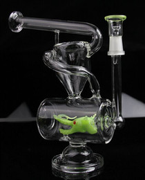 Wholesale New glass bong USA design New dragon recycler water pipe oil rig bong mm joint same as the pictures