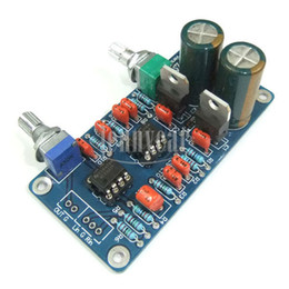 Wholesale Power Amplifiers W volume control Subwoofer Processing Low Pass Filter Circuit Design Board two NE5532 Op amp
