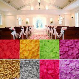Wholesale 10 bags CM artificial Silk Rose Petals For Wedding Favor Party Decoration Carpet Artificial Flowers Petal