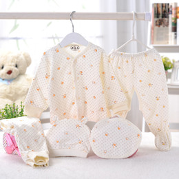 5pcs set Newborn Clothing Set For 0-3 Months Brand Baby Boy Suits Clothes Baby Girl 100% Cotton Underwear Set Free Shipping