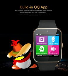 Wholesale Korean Fast Ship - Newest Luxury Bluetooth Smart Watches GT08 For Android IOS Phone Wrist Wear Support Sync SIM TF Card Camera DHL Fedex Fast shipping