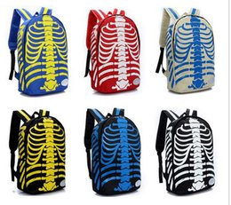 Wholesale-2015 NEW fashion body bone Backpack Skull 3D skeleton body Racksacks School Bags 6 colors