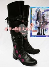 Wholesale Hitman Reborn Demon Spade Cosplay Shoes Halloween Black High Boots Custom made