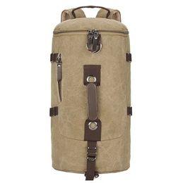 Wholesale Vintage Large Capacity Canvas Travel Bags Luggage Sport Bag Men Military Duffle Bags For Male Malas Para Viagem Deep Grey