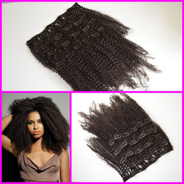 Wholesale 4a b c a b c Mongolian virgin afro kinky curly hair afro african american cheap clip in hair extensions
