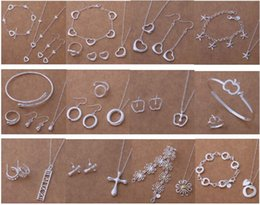 Free Shipping with tracking number New Fashion women's charming jewelry 925 silver 12 mix jewelry set 1455