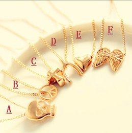 Wholesale 500PCS Clavicle Necklace Sweater Chain Skull Angel Wishing Cross Peace Mischa Barton Jewelry